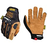 Mechanix Wear - Leather M-Pact Gloves (Large, Black/Brown) (Color: Tan, Tamaño: Large)