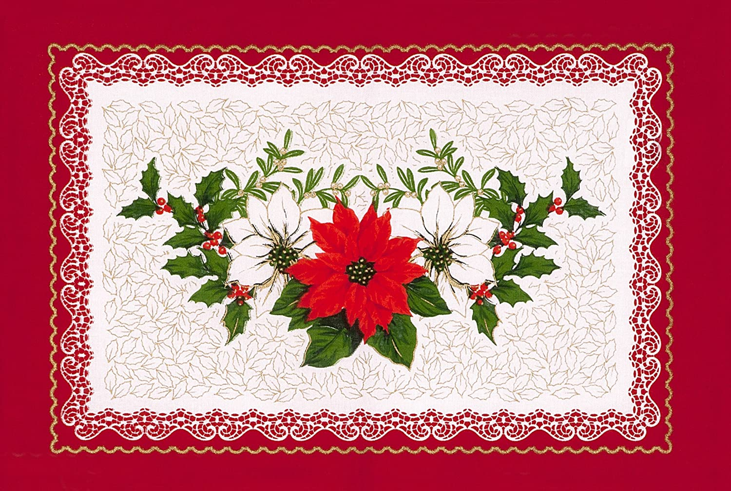 Poinsettia Placemats Page Two Christmas Wikii
