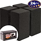 Commercial Grade Grill Cleaning Brick Bulk 24 Pack by Avant Grub. Pumice Stone Cleaner Tool Cleans and Sanitizes Restaurant Flat Top Grills or Griddles Effectively Without Harsh Chemicals or Abrasives