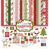 Echo Park Paper Company I I Love Christmas Collection Kit (Tamaño: 1-Pack)
