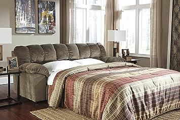 Julson Contemporary Tan Padded Microfiber Full Sofa Sleeper