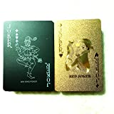 2 Decks of Plastic Poker Cards with Black&Gold Color 100% Waterproof Playing Cards PVC Cards