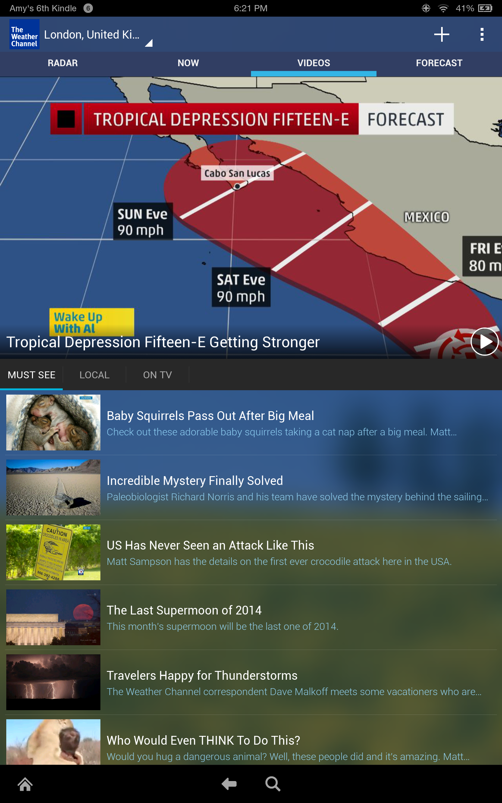 amazon com  the weather channel for android  appstore for