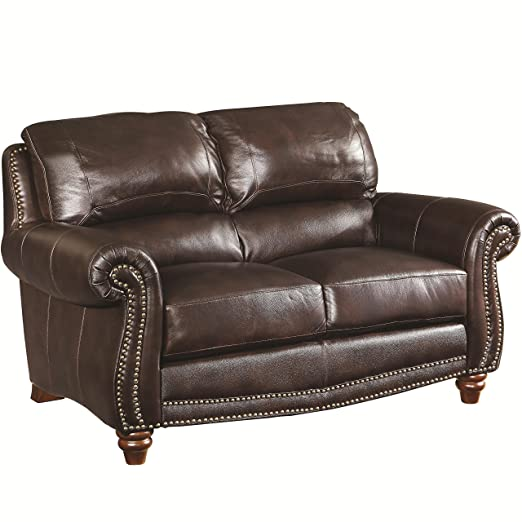 Lockhart Collection Leather Loveseat