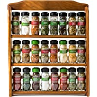 McCormick Gourmet Wood Spice Rack with 24 Herbs/Spices/Blends