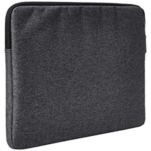 AmazonBasics Tablet Laptop Sleeve Case with Front Pocket, 13 Inch, Grey (Color: Grey, Tamaño: 13)