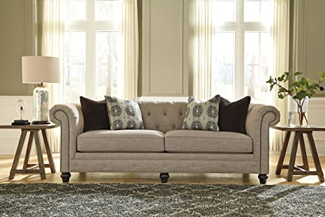 Azlyn Grey Vintage Casual Fabric Sofa