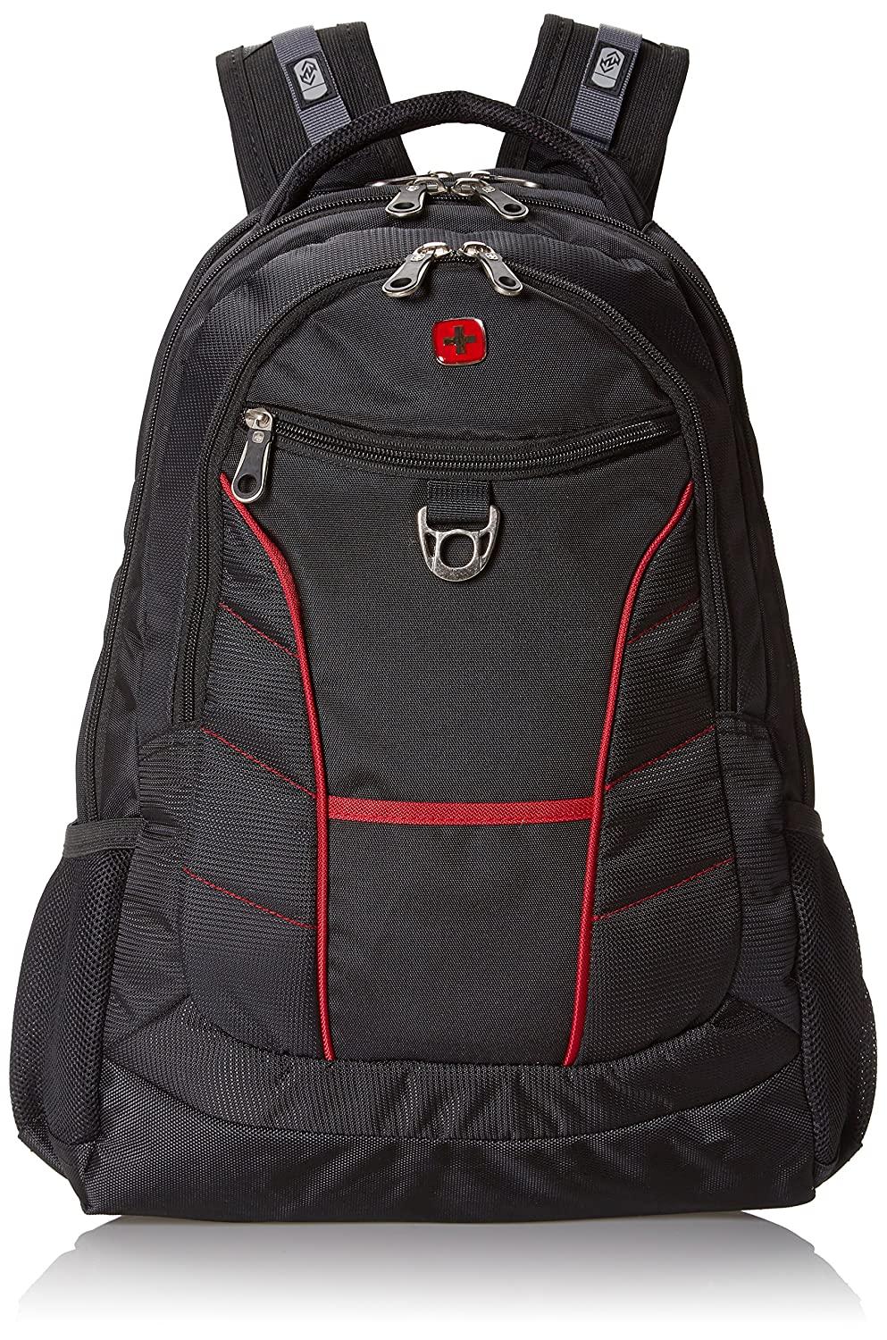 SwissGear SA1775 Black with Red Accents Laptop Computer Backpack - Fits Most 15 Inch Laptops and Tablets