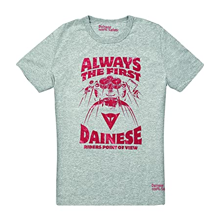 Dainese 1896381_351_XXL Always T-Shirt, Gris Mélange, Taille : 44
