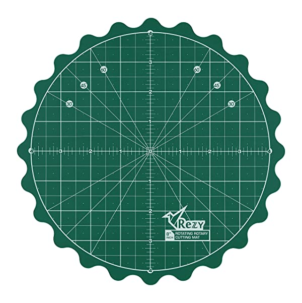 REZY Self-Healing Round Rotating Rotary Turntable 8 inch Green Cutting MAT