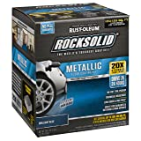 Rust-Oleum 299745 Rock-Solid Metallic Garage Floor Coating Kit, Brilliant Blue (Color: Brilliant Blue)