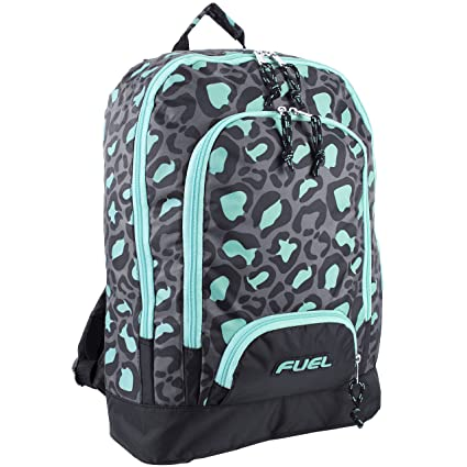 Fuel Triple Pocket Backpack, Mint Leopard