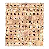 BSIRI Scrabble Tiles Wood Craft Letters Word Tiles for Scrap Booking 100 Pieces (Color: Natural wood, Tamaño: tiles size is 18x20x4mm or 0.70x0.78x0.16 inch)
