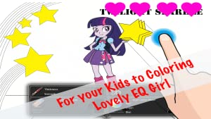 Equestria Girls Free Coloring Pages for Kids MLP Creator Edition by Fun Factory Studio