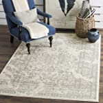 Safavieh Adirondack Collection ADR101B Ivory and Silver Oriental Vintage Area Rug (8' x 10')