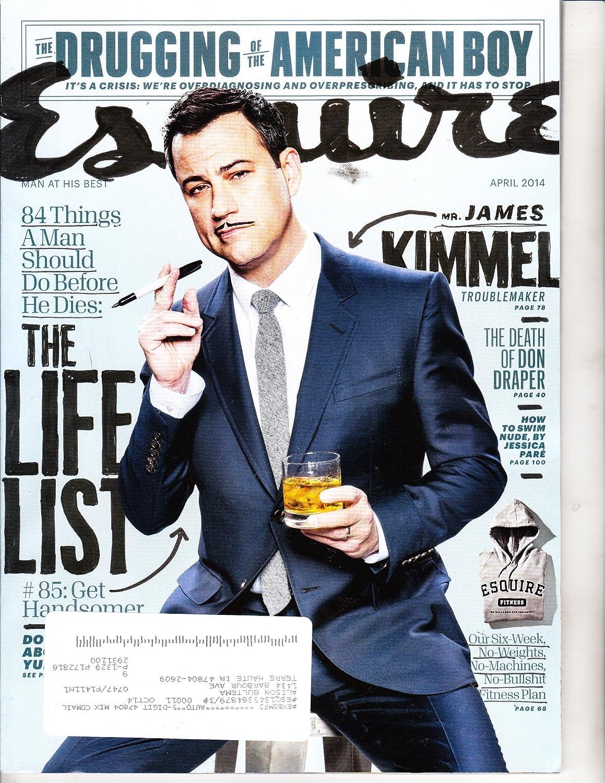 Esquire Magazine April 2014 James Kimmel