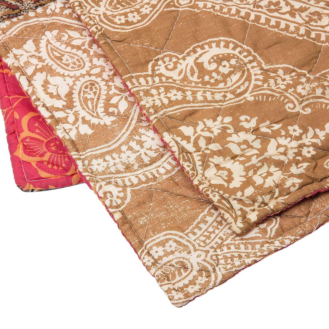 Luxury Retro Floral Stitching Cotton Patchwork Bedspread Sets Quilt Queen Size 5