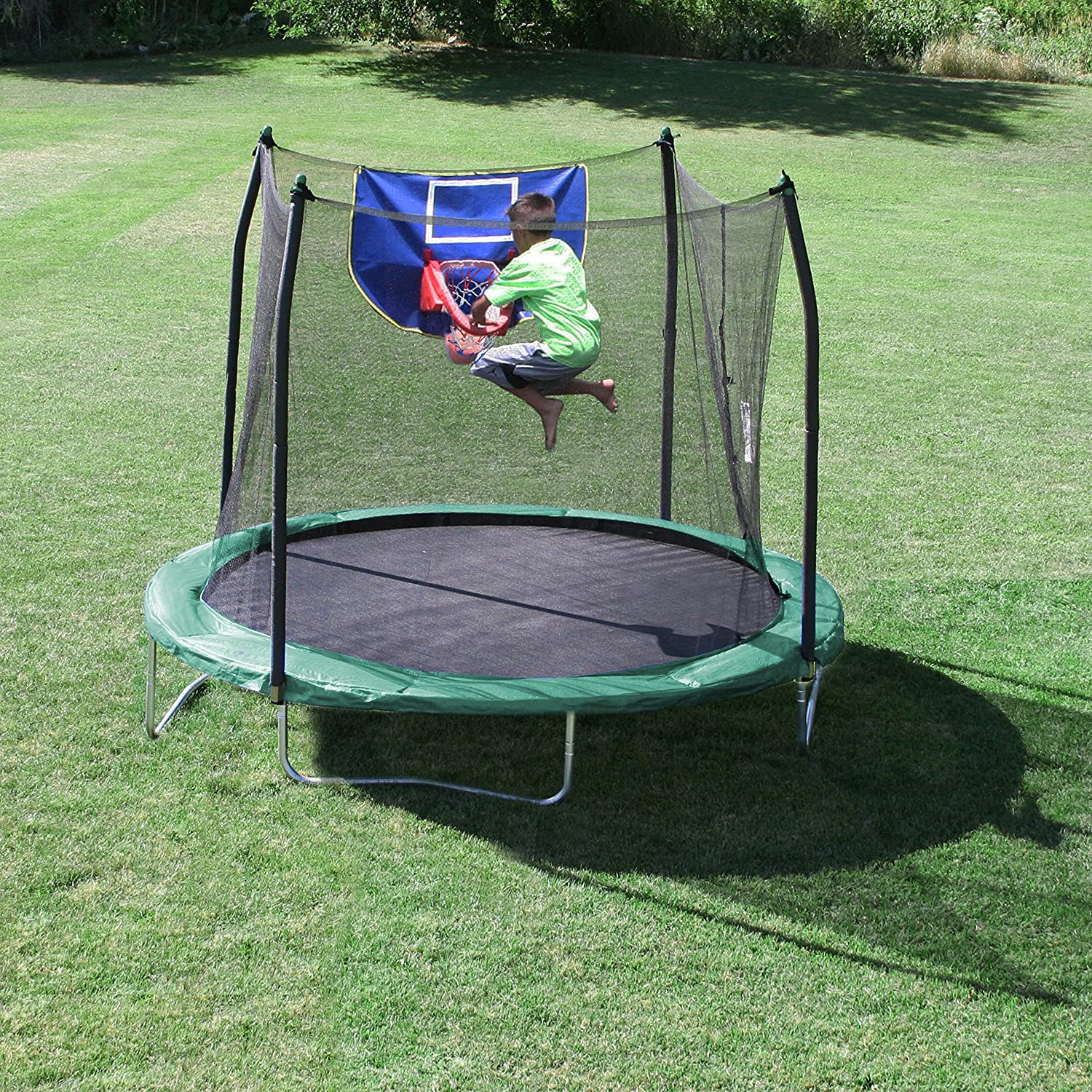 Backyard Outdoor Trampolines Skywalker W Safety Enclosure