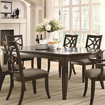 Coaster Meredith Espresso Brown Casual 2 Leaf Extension Table