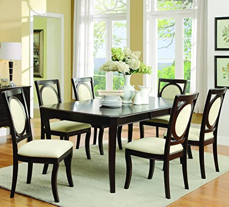 Crest Hill Classical 7 Piece Table and Chair Set