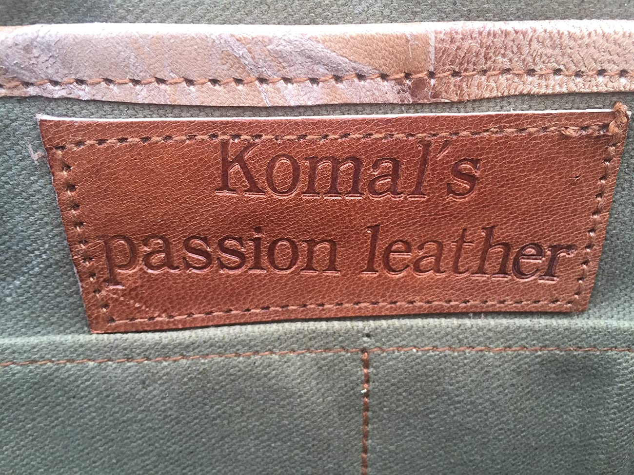PL 16 Inch Vintage Leather Messenger Bag Briefcase / Fits upto 15.6 Inch Laptop 6