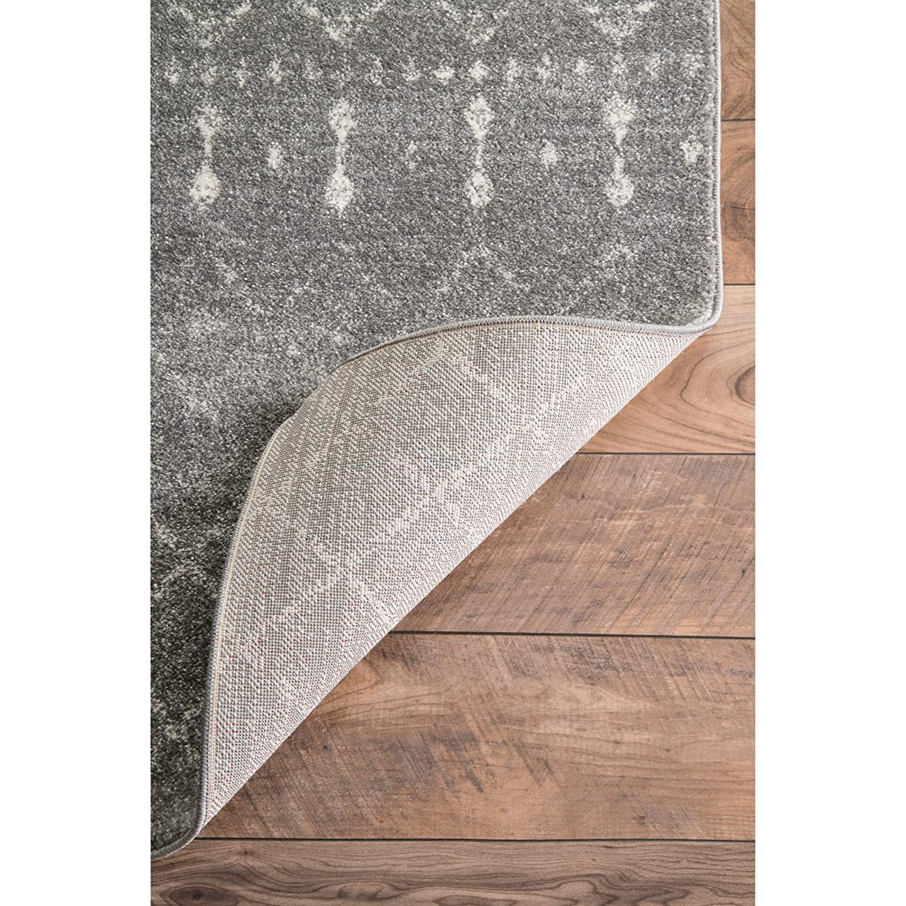 Traditional Vintage Moroccan trellis Dark Grey Area Rugs, 5 Feet by 7 Feet 5 Inches (5' x 7' 5