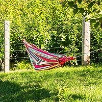 Outdoor Nation Comfortable Hanging Cotton Nylon Mesh Rope Hammock