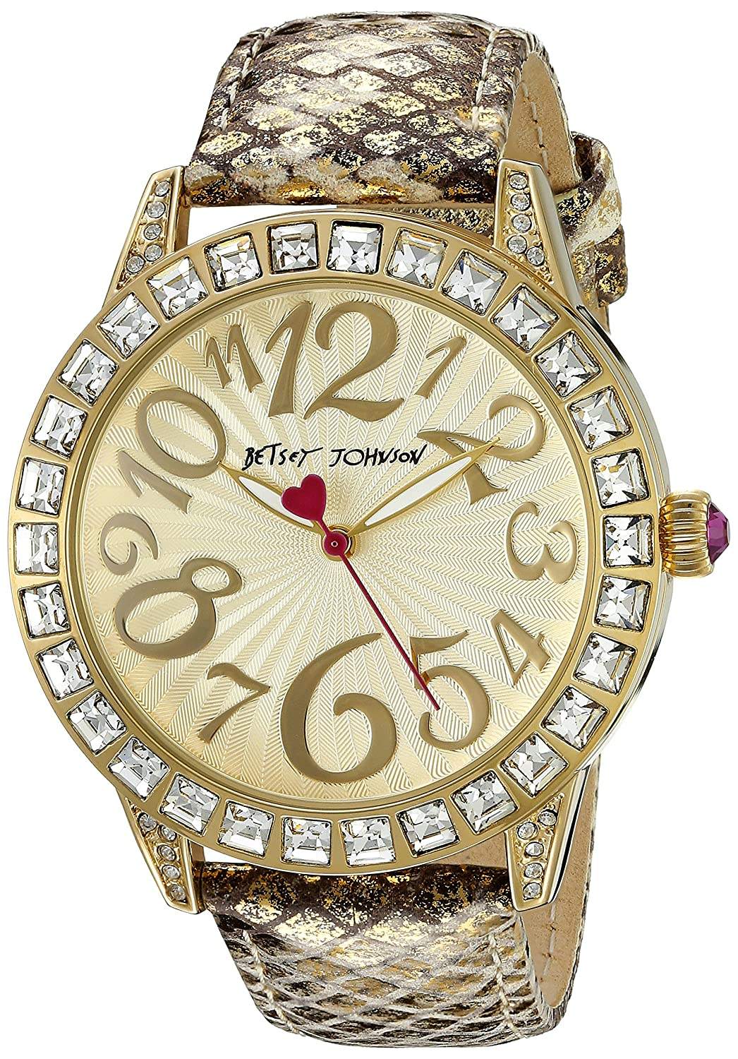 Betsey Johnson Women's BJ00292-05 Analog Display Quartz Gold Watch