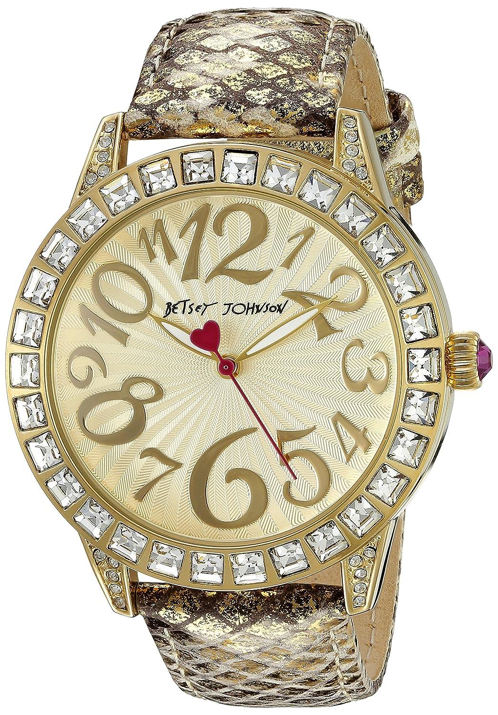 Betsey Johnson Women's BJ00292-05 Analog Display Quartz Gold Watch
