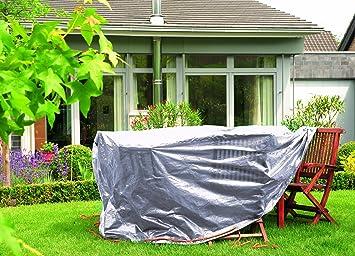 Bio green rx90 tr sg sg b che de protection pour table rond ovale rond ovale gris - Bache pour salon de jardin rond ...
