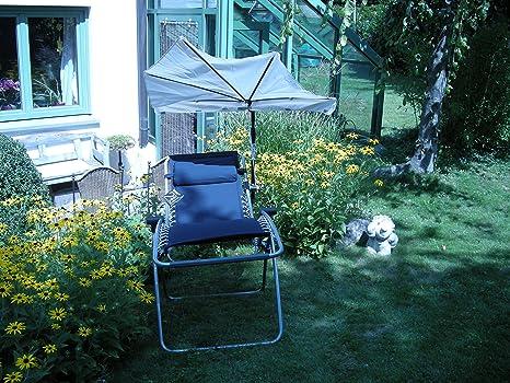 Loisirs jeu lAFUMA rSX fauteuil relax sTABIELO-couleur-bleu nuit-oUTDOOR chaise longue réglable-et pliable-charge maximale :  env. 120 kg, capacité de charge-avec support-sTABIELO holly fächerschirm sunshade ® holly-blanc-innovation