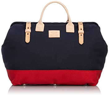 Heritage Leather Company Mason Bag 7725: Navy / Red