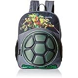 b7e39bfc9d44 Teenage Mutant Ninja Turtles Big Boys Nickelodeon 3D Eva Turtle Shell Front  Pocket 16 Inch Backpack