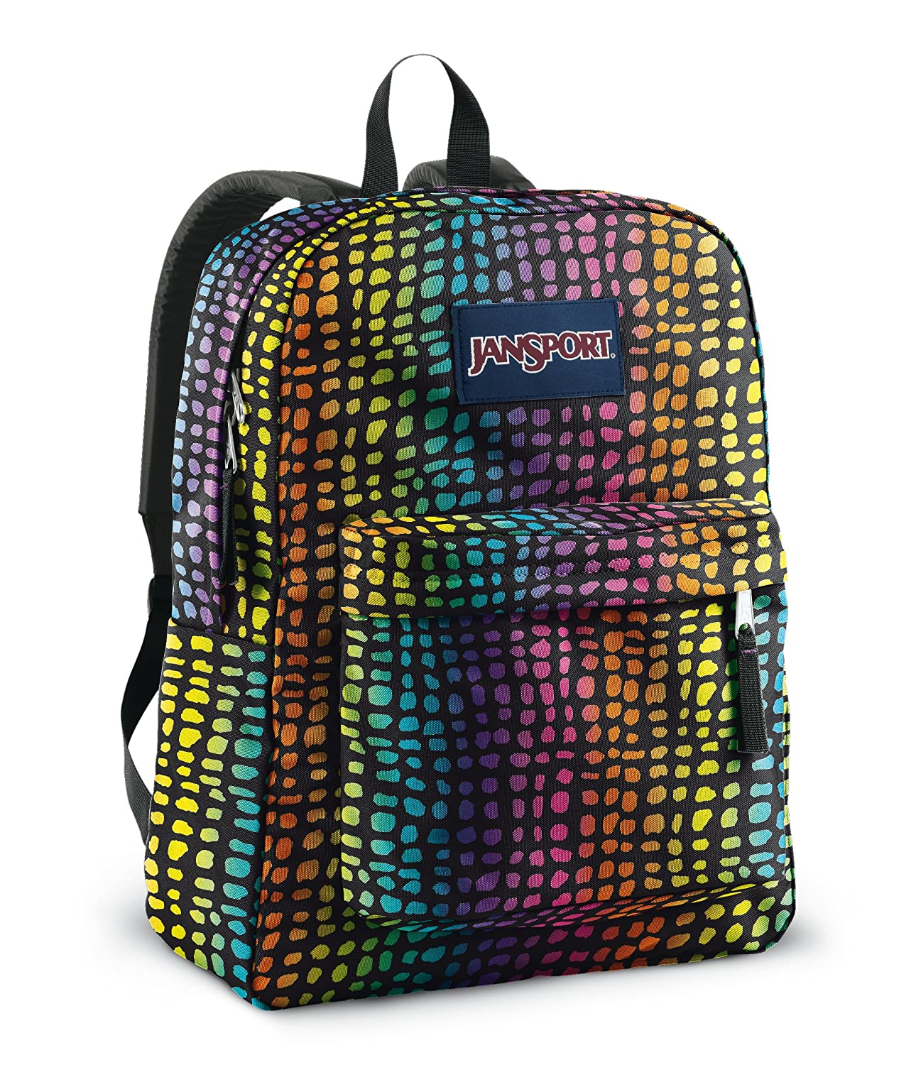JanSport Classics Series Superbreak Backpack (Black/Multi Reptile)