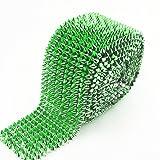AEAOA 1 Yard Green Sew Stitch On Spike Stud Cone Flatback Punk Rock Trim mesh Bead Craft (Green) (Tamaño: Green)