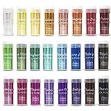 Mica Powder 24 Color Shake Jars - Huge 240g/8.47oz Set - Premium Cosmetic Grade Mica Powder for Epoxy Resin, Slime Coloring, Soap Colorant, Bath Bomb Colorant, Tinted Lip Balm, Nail Art