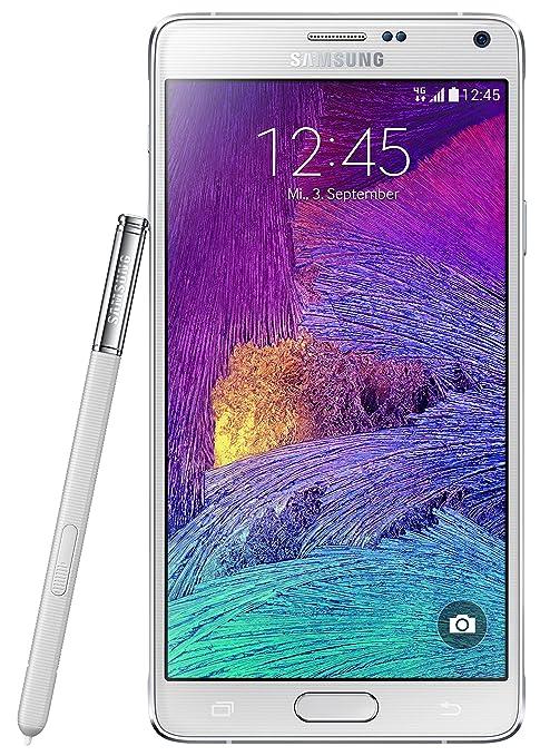Samsung Note 4 Smartphone débloqué 4G (Ecran : 5.7 pouces - 32 Go - Android 4.4 KitKat) Blanc (Import Europe)