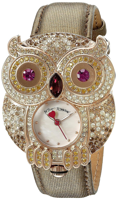 Betsey Johnson Women's BJ00555-04 Analog Display Quartz Brown Watch