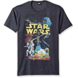 Star Wars Men's Rebel Classic Graphic T-Shirt, Charcoal Heather, X-Large (Color: Charcoal Heather, Tamaño: X-Large)