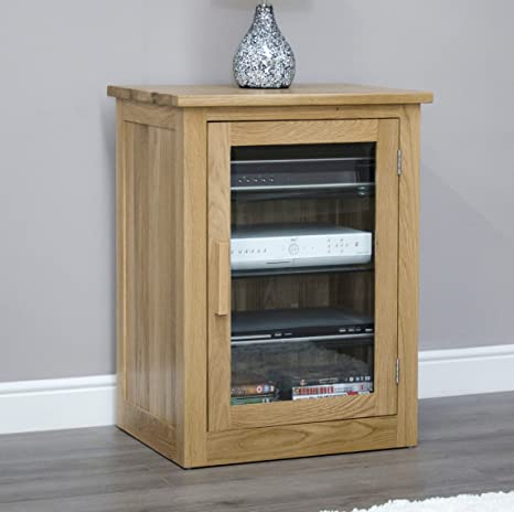 Arden Solid Oak Furniture Hi-Fi Cabinet