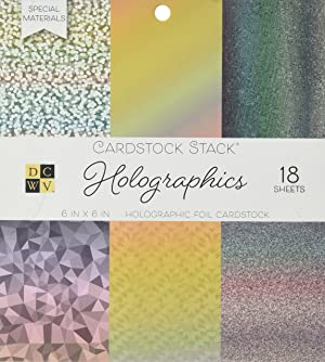 DCWVE DCWV Specialty Stack-6 x 6-Single-Sided Holographic Foil-18 Seat PS-006-00123, 6 x 6 (Tamaño: 6 x 6)