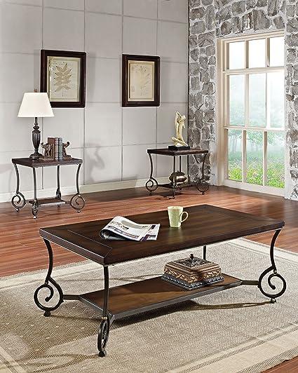 Acme 80115 Maxson Coffee Table, Chocolate Finish