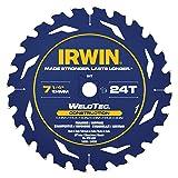 IRWIN Tools MARATHON WeldTec Corded Circular Saw Blade, 7 1/4-inch, 24T (14035) (Tamaño: 7-1/4