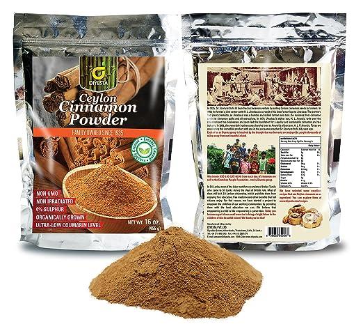 Premium Organic Ceylon Cinnamon - one pound of freshly ground Ceylon cinnamon in