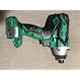 Hitachi WH18DGL Impact Driver 1/4 inch Hex Drive (bare tool - no battery, charger or case) (Color: Green & Black)