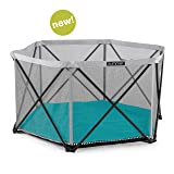 Summer Pop 'N Play SE Hex Playard - Portable Play Pen with Removable, Machine Washable Padded Floor + Carry Bag, for Indoor & Outdoor (Color: Aqua Sugar (No Canopy))