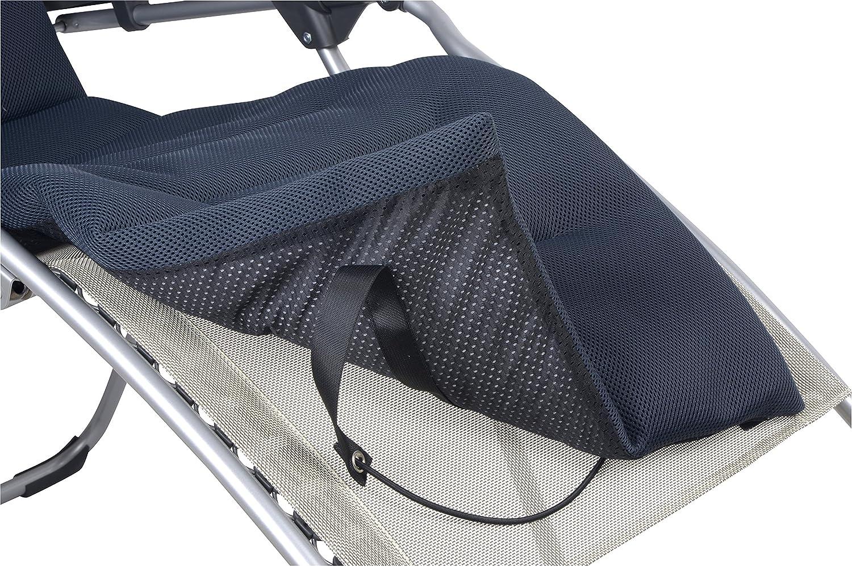 Lafuma gepolsterte Air Comfort Auflage für Relax-Liegestuhl, Acier (Schwarz), LFM2604-7278