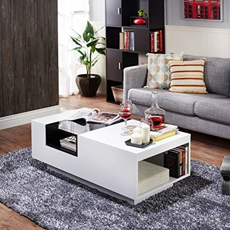 Enitial Lab Dekker Modern Coffee Table, White