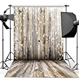 Dudaacvt 10x10Ft Vinyl Light Grey Wood Wall Photography Backdrop Gray Wooden Floor Photo Backgrounds for Christmas M00101010 (Color: 1, Tamaño: 10x10ft)