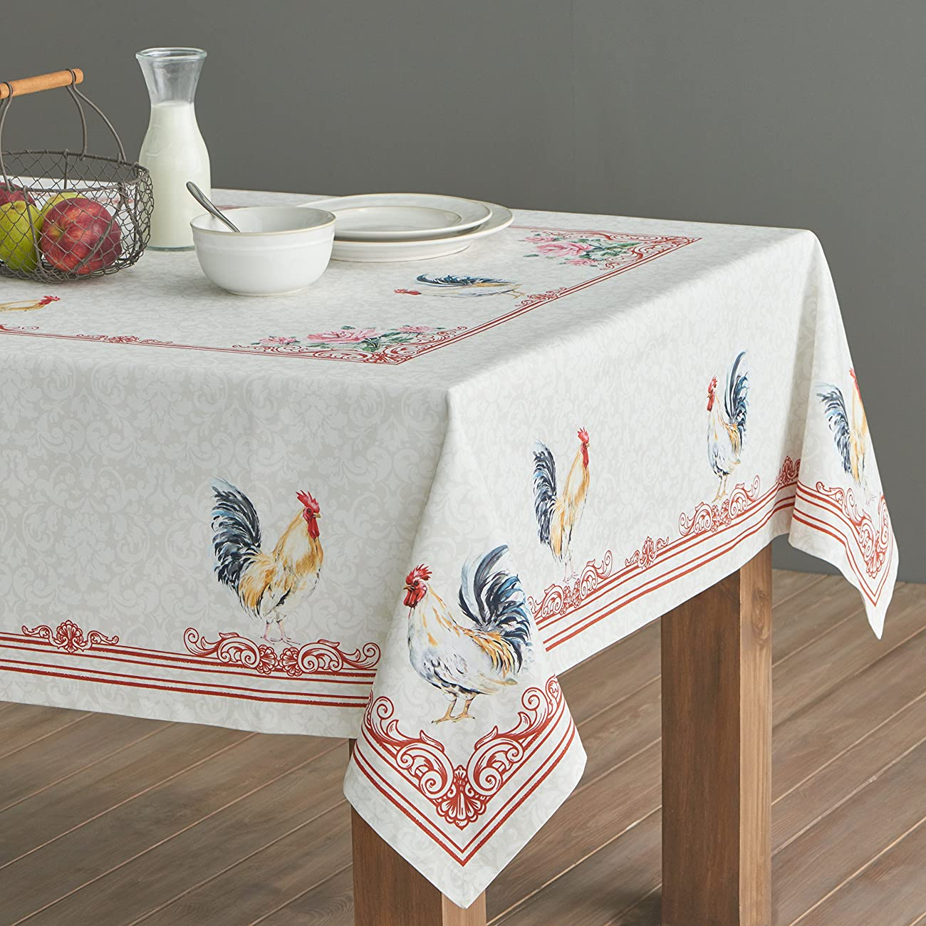 Maison d' Hermine Campagne 100% Cotton Tablecloth 60 - inch by 60 - inch. 2